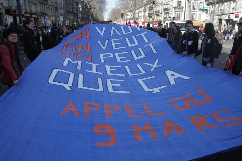 On vaut On peut On veut mieux que ça Appel du 9 mars